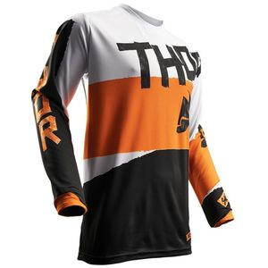 Maillot Cross Thor Pulse Taper - Orange Blanc - 2018