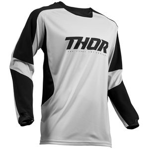 Maillot cross TERRAIN LIGHT GRAY BLACK 2020 Gris/Noir
