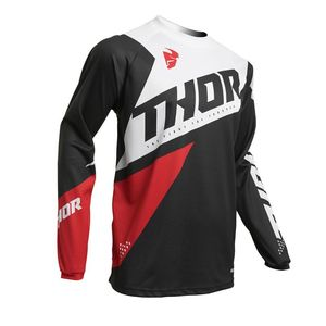 Maillot cross YOUTH SECTOR - BLADE - CHARCOAL RED  Black Red