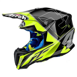 Casque cross TWIST  - CAIROLI MANTOVA 2018 Noir/Jaune