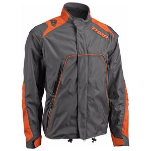 Veste Enduro Thor Range - Charbon Orange - 2018