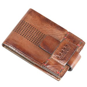 Portefeuille LEATHER  Marron