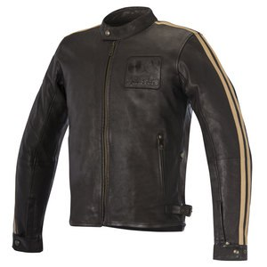 Blouson CHARLIE LEATHER  Brown/Sand