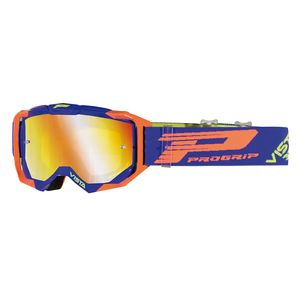 Masque cross VISTA 3303/18 Bleu/Orange fluo 2019 Bleu/Orange fluo