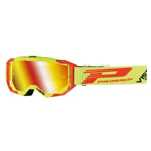 Masque Cross Progrip Vista 3303/18 Jaune Fluo/rouge 2018