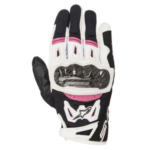 Gants STELLA SMX-2 AIR CARBON V2  Black/White/Fushia