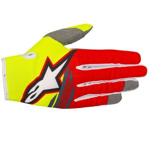 Gants cross RADAR FLIGHT YELLOW FLUO RED ANTHRACITE ENFANT   Yellow/Red