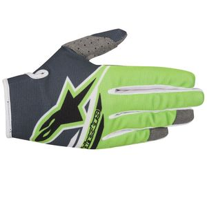 Gants cross RADAR FLIGHT ANTHRACITE GREEN FLUO ENFANT   Anthracite/Green