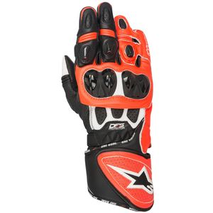 Gants GP PLUS R  White/Black/Red