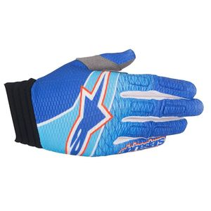 Gants Cross Alpinestars Aviator Blue Cyan Red 2017