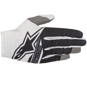 Gants cross RADAR FLIGHT WHITE BLACK  2018 White/Black