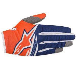 Gants cross RADAR FLIGHT ORANGE FLUO DARK BLUE WHITE  2018 Orange/Blue