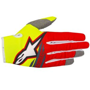 Gants cross RADAR FLIGHT YELLOW FLUO RED ANTHRACITE  2018 Yellow/Red