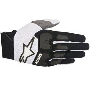 Gants cross RACEFEND BLACK WHITE  2018 Black/white