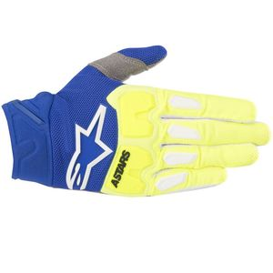 Gants cross RACEFEND YELLOW FLUO BLUE  2018 Yellow/Blue