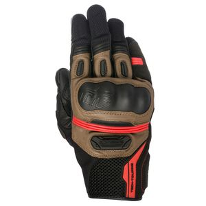 Gants HIGHLANDS  Black/Tobacco brown/Red