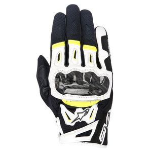Gants SMX-2 AIR CARBON V2  Black/White/Yellow
