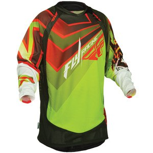 Maillot cross EVO JERSEY GREEN/RED   Vert/Rouge