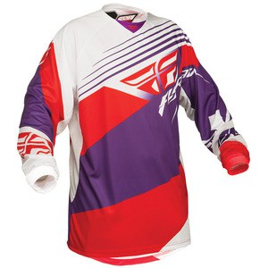 Maillot Cross Fly Destockage Kinetic Jersey Violet/rouge/blanc