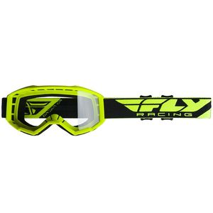 Masque cross FOCUS - KID - HI VIS YELLOW 2021 Jaune fluo