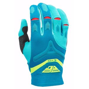Gants Cross Fly Destockage Evo 2.0 - Bleu Jaune Fluo Rouge - 2017
