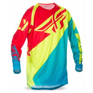 Maillot Cross Fly Destockage Evo 2.0 - Bleu Jaune Fluo Rouge - 2017