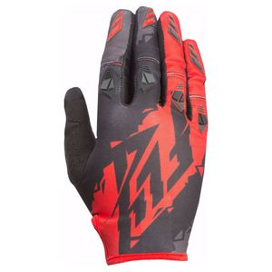 Gants cross KINETIC - NOIR ROUGE - 2017 Noir/Rouge