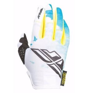 Gants cross KINETIC YOUTH - BLEU JAUNE -  Bleu/Jaune