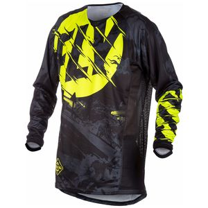 Maillot cross KINETIC YOUTH OUTLAW - NOIR JAUNE FLUO -   Noir/Hi-visibility