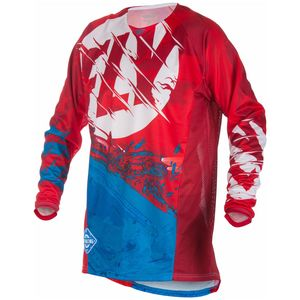 Maillot Cross Fly Kinetic Outlaw - Rouge Blanc Bleu - 2018