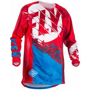 Maillot Cross Fly Kinetic Youth Outlaw - Rouge Blanc Bleu - 2018