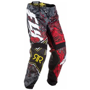 Pantalon cross KINETIC ROCKSTAR ENERGY DRINK -  2018 Rouge/Gris
