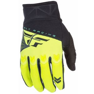 Gants Cross Fly F16 Youth - Noir Jaune Fluo - 2018