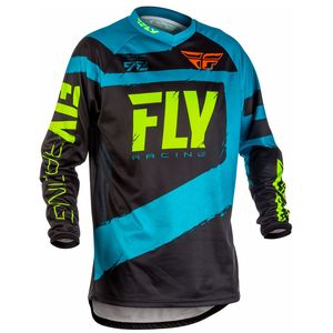 Maillot Cross Fly F16 Youth - Bleu Noir - 2018