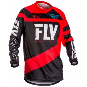 Maillot Cross Fly F16 Youth - Rouge Noir - 2018