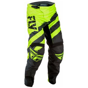 Pantalon Cross Fly F16 Youth - Noir Jaune Fluo - 2018
