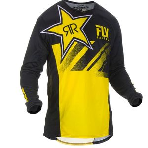 Maillot Cross Fly Kinetic Rockstar - Yellow Black 2019