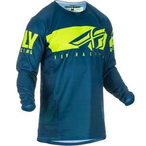 Maillot Cross Fly Kid Kinetic Shield - Navy Hi-vis 2019