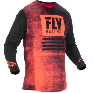 Maillot Cross Fly Kid Kinetic Noiz - Neon Red Black 2019
