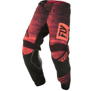 Pantalon cross KINETIC NOIZ - NEON RED BLACK 2019 Neon Red Black