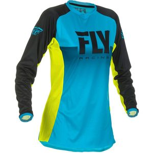 Maillot Cross Fly Women's Lite - Blue Hi-vis 2019