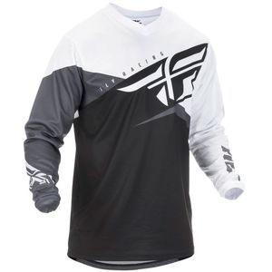 Maillot Cross Fly F-16 - Kid Black White Grey 2019
