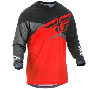 Maillot Cross Fly F-16 - Kid Red Black Grey 2019