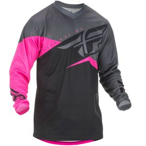 Maillot Cross Fly F-16 - Kid Neon Pink Black Grey 2019