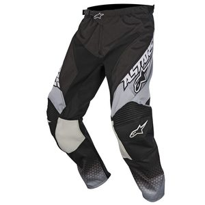 Pantalon Cross Alpinestars Racer Supermatic Black Light Gray White 2017