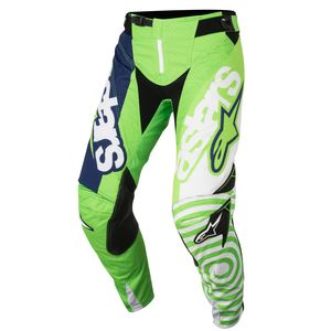 Pantalon cross TECHSTAR VENOM GREEN FLUO WHITE DARK BLUE  2018 Green/White
