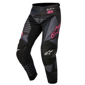 Pantalon cross RACER TACTICAL BLACK PINK FLUO  2018 Black/Pink