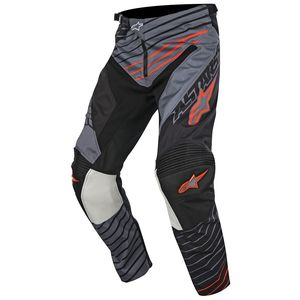 Pantalon cross RACER BRAAP DARK GRAY BLACK ORANGE FLUO  2017 Gray/Black