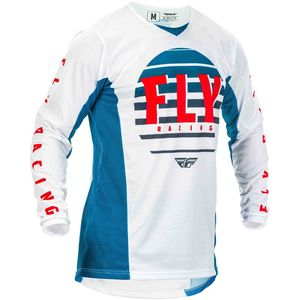 Maillot cross KINETIC K220 BLUE WHITE RED 2020 Blue White