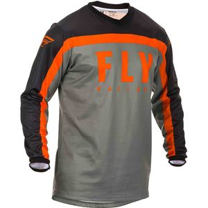 Maillot cross Fly F-16 RIDING GREY BLACK ORANGE ENFANT 2020